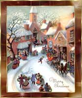 Nostalgische Weihnachtsmotive.Weihnachtsgrusskarten Nostalgie